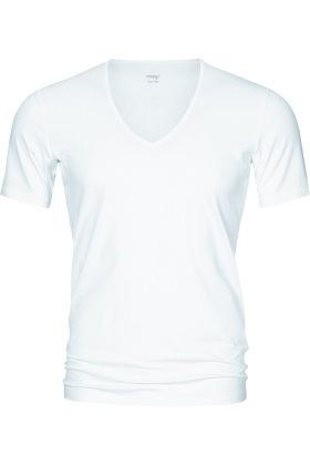 MEY : MÆND - V-Hals Undertrøje - Serie Dry Cotton Functional - Hvid
