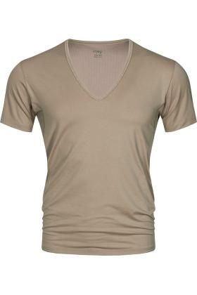 MEY : MÆND - V-Hals Undertrøje - Serie Dry Cotton Functional - Lys Skin