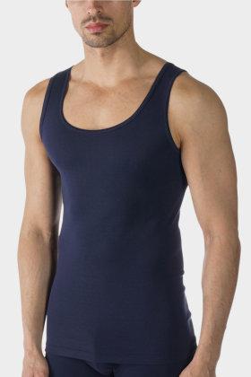 MEY : MÆND - Fineste Kvalitet - Peru Pima - Undertrøje - Smal Strop - Mørkeblå