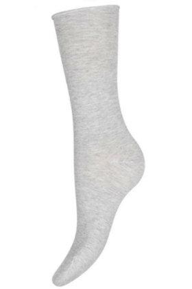 DECOY - Finstrikket Ankelsokker - Ankle Socks - Grå Melange