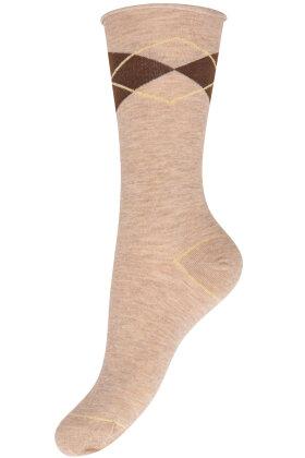 DECOY - Finstrikket Ankelsokker - Ankle Socks - Sand