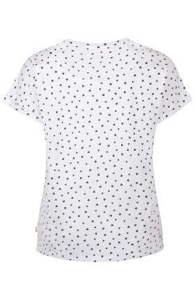 ZHENZI - Alberta T-shirt - Hjerter - Hvid