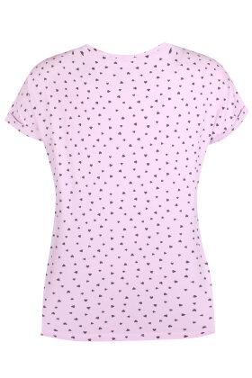 ZHENZI - Alberta T-shirt - Hjerter - Lys Lilla