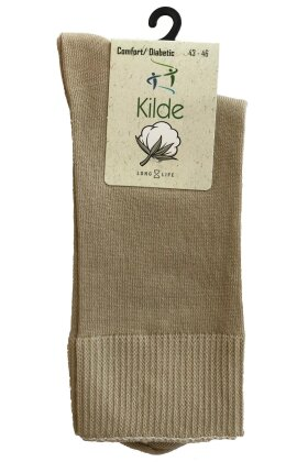 KILDE - Comfort Diabetic Sokker - Beige