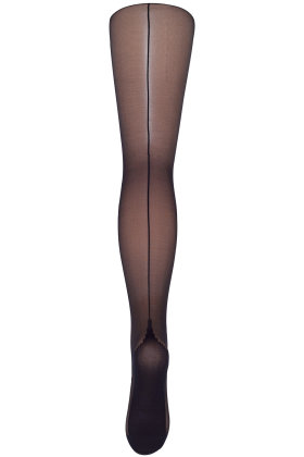 DECOY - Tights Backseam 20D - Synlig Søm - Sort