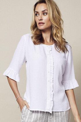 MICHA - Skjortebluse - Hvid