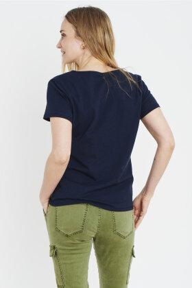 PULZ - Mabella T-shirt - Mørkeblå