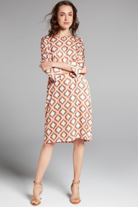 ETERNA - Dress Graphical - Kjole - Orange