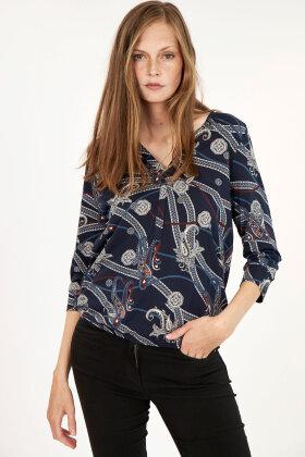 SOYACONCEPT - Sc Felicity Aop 288 - T-shirt - Mørkeblå