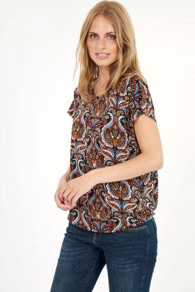 SOYACONCEPT - Sc Marica Aop 113 - T-shirt - Rust