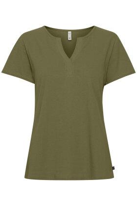 PULZ - Amabella - T-shirt - Oliven