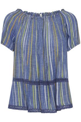 PULZ - Paula Bluse - A-facon - T-shirt - Blå