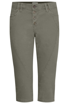 PULZ - Rosita Capri Jeans - Army Grøn