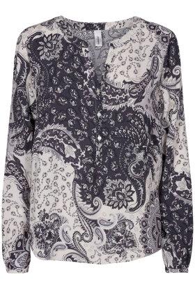 SOYACONCEPT - Kiana 2 Bluse - Print - Sort