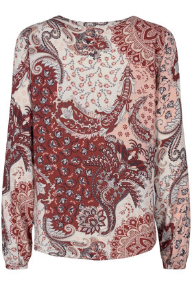 SOYACONCEPT - Kiana 2 Bluse - Print - Bordeaux