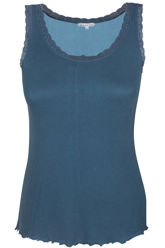 ZHENZI - Ruth 308 - Silk Blend - Top Camisole - Petrol