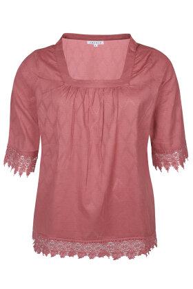 ZHENZI - Pice 559 - Bluse - Mønstret - Blonde - Rosa