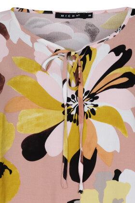 MICHA - Løs Chiffon Bluse - Print - Rosa