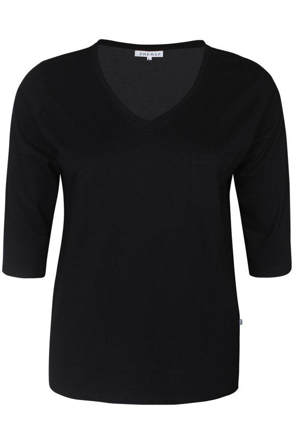ZHENZI - Alberta 301 - T-shirt - Sort