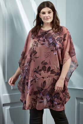 ZHENZI - Kobo 544 - Chiffon Kjole - Floralt Print - Sort