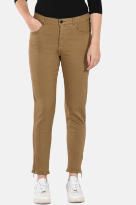 CERO - Magic Fit Jeans - Regular 7/8 Dels - Camel