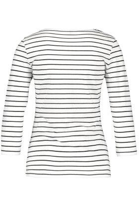 GERRY WEBER - Stribet - Casual T-shirt - Hvid
