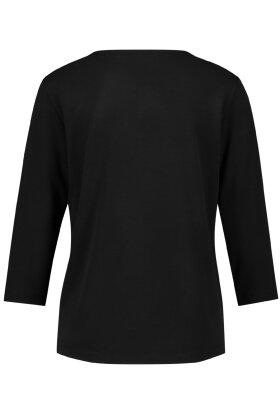 GERRY WEBER - Stribet T-shirt- 3/4 Ærme - Sort og Hvid