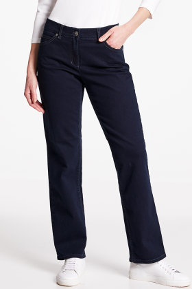 GERRY WEBER - Jeans Elastiske - Straight Fit - Mørk Denim