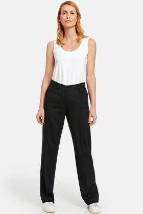 GERRY WEBER - Straight Cut Trousers - Sorte