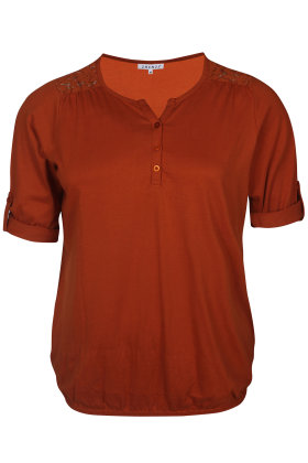 ZHENZI - Agna 811 -  Basis T-shirt - Rust