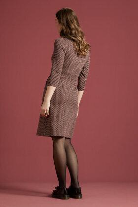 KING LOUIE - Mona Dress Conte - Grafisk Bordeaux