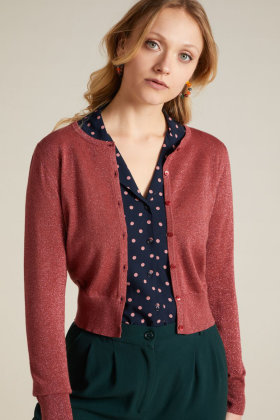 KING LOUIE - Cardi Roundneck Organic Lapis - Bordeaux