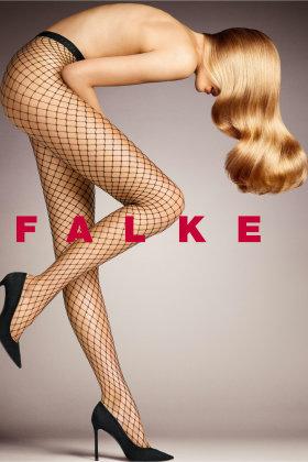 FALKE - Classic Net - Fiskenet - Sorte