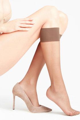 FALKE - Seidenglatt 15 Denier - Knee-high Socks - knæstrømpe - Brun