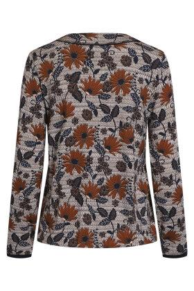 SIGNATURE - Langærmet T-shirt - Blomstret - Marine