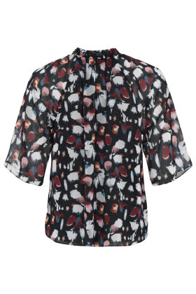 MOLLY-JO - Chiffon Bluse - Multiprint Sort