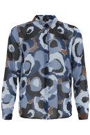 MOLLY-JO - Chiffon Skjorte - Camouflage - Blå