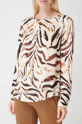 ETERNA - Zebra Blouse - Brun