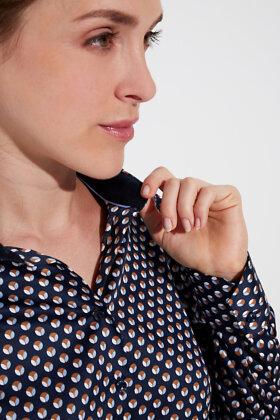 ETERNA - Dots in Blue - Skjorte - Mørkeblå