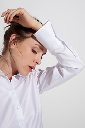 ETERNA - Skjorte - Classic Cover Shirt - Hvid