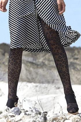 DECOY - Leopard Jacquard 20D - Fashion Tights - Strømpebukser
