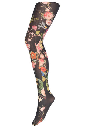 HYPE the DETAIL - Tights Floral Multicolor 60D - Grøn