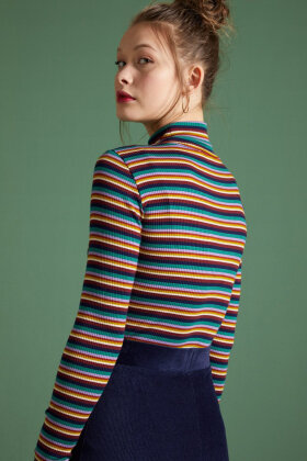 KING LOUIE - Rollneck Top Daydream Stripe - Marine