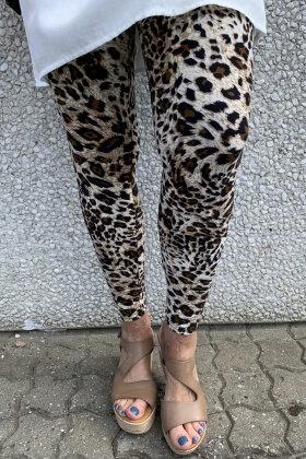 THREE M - Leopard Leggings - Brun