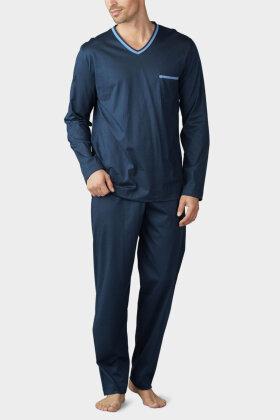 MEY : MÆND - Uni Basic - Herre Pyjamas - Mørkeblå