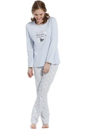 PASTUNETTE - Detaljerig Pyjamas - Lyseblå