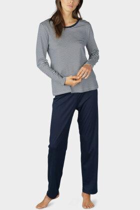 MEY - Paula - Pyjamas - Stribet - Mørkeblå