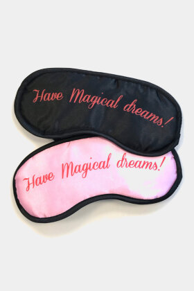 MAGIC BODYFASHION - Eyemask - Øjenmaske - Pink - Sort
