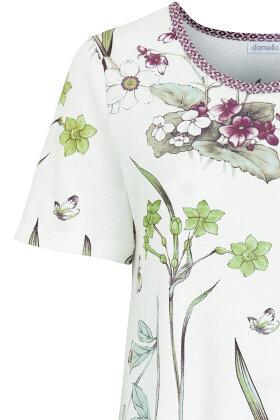 DAMELLA - Natkjole - Blomsterprint - Off White