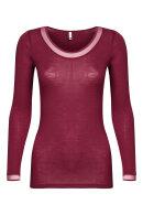 FEMILET - Juliana T-shirt - Lange Ærmer -Merino - Bordeaux